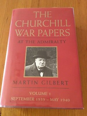 THE CHURCHILL WAR PAPERS. AT THE ADMIRALTY. 1993 1st Edition. MARTIN GILBERT.
