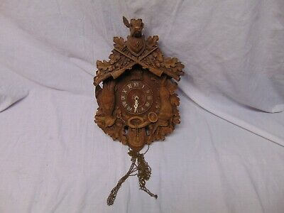 Ready To Be Framed! Ornate Cuckoo Clock by Paul Lux 1936 Patent Print