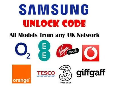 Samsung Unlock Code Service  For Note 10 5g   S10 S10e S10+ Plus Any UK network