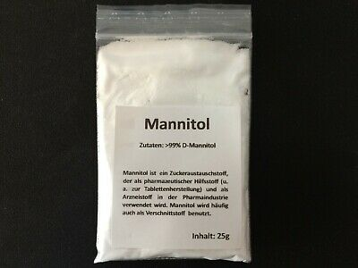 25g Mannitol Pulver Mannit Mannitol Powder Manitol Mannitolo