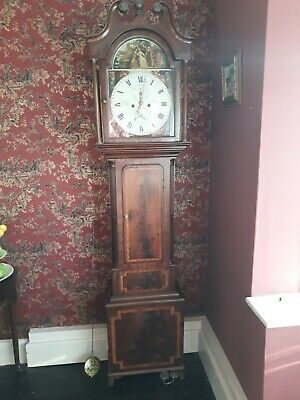 Antique Grandfather Clock -  Scottish Mahogony Longcase by J.Lundie of Dundee