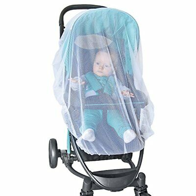 NEW White Mosquito Bugs Net Mesh Cover Baby Child Bassinet for Jeep Strollers
