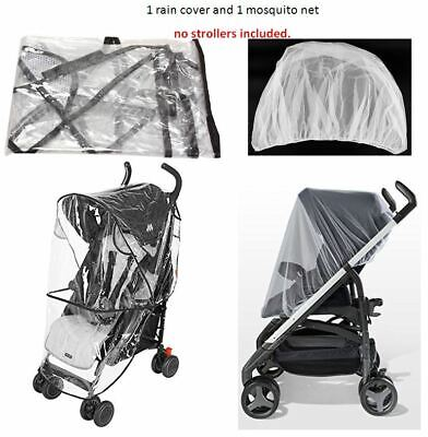 Rain Cover Mosquito Net Set Cover Protector for Maclaren Child Kid Baby Stroller