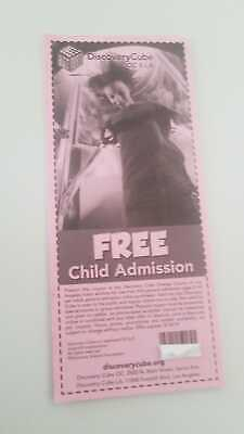 Two Free Child Admission For Discovery Cube Kids Museum LA Sylmar Orange County