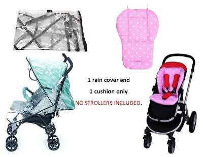 Pink Blue Polka Dot Cushion Rain Cover Set for CHICCO Baby Kid Infant Strollers