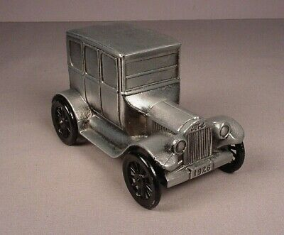 Banthrico 1926 Ford Auto Car Metal Coin Bank vintage vehicle 1974 pewter finish