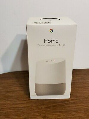 Google Home Voice Activated Speaker Smart Assistant White with Box & Charger