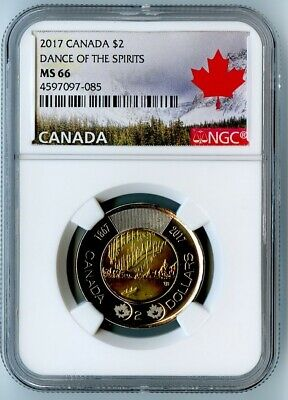 2017 Canada Ngc Ms66 Dance Of The Spirits Toonie $2! Awesome Coin!