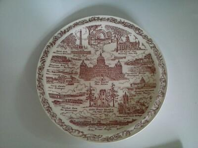 Vernon Kilns Plate Song of Iowa for A C McClurg & Co Chicago ILL Vintage