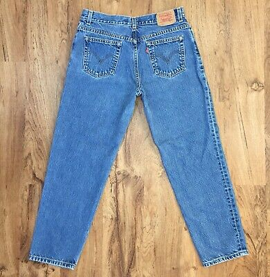 Vintage LEVIS Womens Classic Relaxed 550 Jeans Red Tab 100% Cotton Size 14 PET M