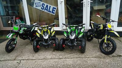 Childrens Electric Pit Bike Motorbike Quad Stomp collection only IN STOCK