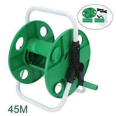 Compact Portable Garden 45M Free Standing Hose Reel Trolley Holder Cart Watering