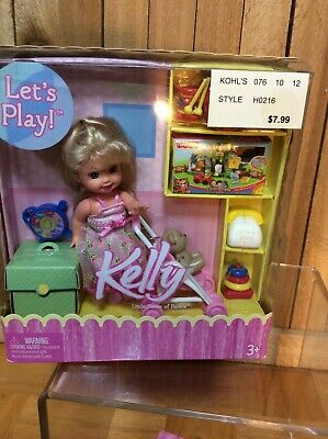 no doll Barbie/'s Little Sister Kelly Sized Sled with moveable steering bar