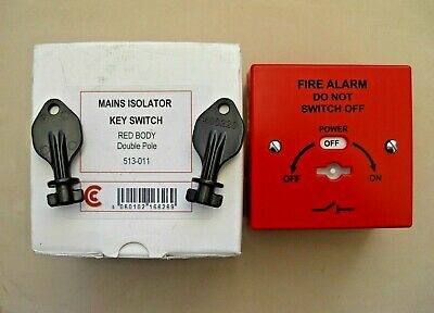 £9.24 T2 400-220RB Fire Alarm Mains Isolation Keyswitch With Backbox 513-011