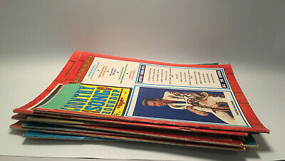 Lot of 7 Vintage Country Song Roundup Magazines Publications Music Memorabilia