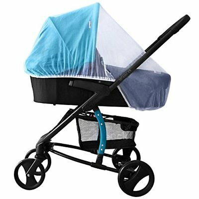 White Mosquito Bugs Net Mesh Cover for Baby Bassinets to fit Inglesina strollers
