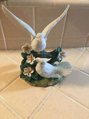 Doves And Flowers FIGURINE 6X8IN