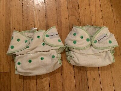 WONDERFUL BAMBINO 100% bamboo adjustable washable reusable diaper LOT of 2
