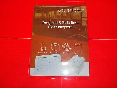 Sorceone Acrylic Clear Wall Mount Sign Holder 8.5x11 (Lot of 10)