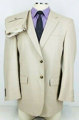 43R NWOT! Jos A Bank Mens 2 Button Cotton Wool Suit Sand Beige Pants 38