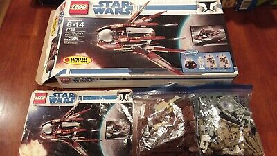 Lego star wars #7752 count dookus solar sailer complete in box limited edition
