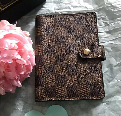 Authentic Louis Vuitton Agenda PM Damier Ebene