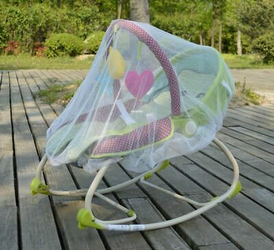 White Mosquito Bugs Net Mesh Cover for Skip Hop Baby Rockers Bouncers Swings