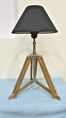Pair Of Two Studio Vintage Tripod Table Lamp Natural Tripod Lamp Stand