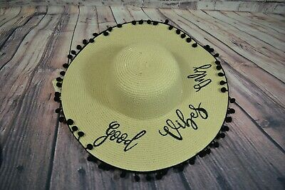 Nwt Girls Gb Kids Good Vibes Only Youth Summer Hat
