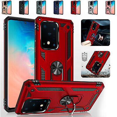 For Samsung Galaxy S20 Plus S20 Ultra Armor Shockproof Magnetic Ring Stand Case