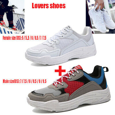 2pcs/set Sport Breathable Lovers Casual Shoes Sneaker Running Sports Shoes