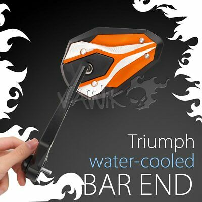 Bar End Orange Mirrors VIPERII Compatible With Triumph Water-Cooled Motorcycle ε