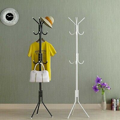 Coat Stand Garment Rack Metal Coat Jacket Umbrella Hanger Standing Hook Rack