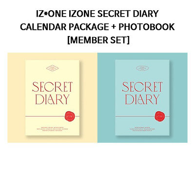Iz*One Izone Secret Diary Calendar + Photobook  Package [Member Set]
