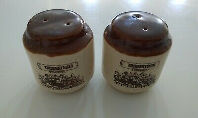 Timbertown Wauchope Salt & Pepper set glazed pottery