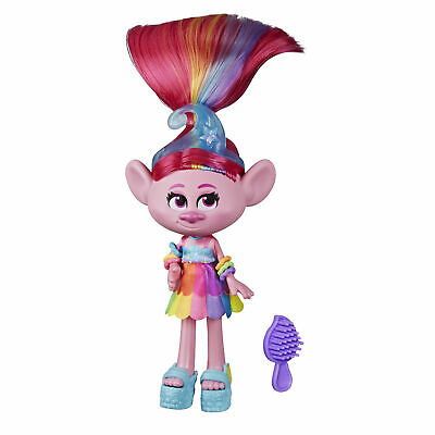DreamWorks Trolls World Tour Glam Poppy Fashion Doll with Dress and More