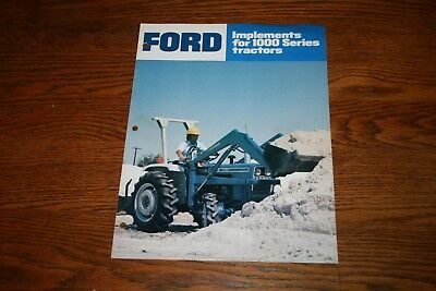 Ford Tractor 305 Planter 110 Middlebuster Dealer/'s Brochure LCPA