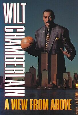 Wilt Chamberlain-In Person Signed Hb/Dj Book-A View From Above-Nba-Basketball
