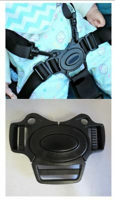 GRACO Comfy Cruiser Baby Stroller 5 Point Buckle Harness Clip Strap Replacement