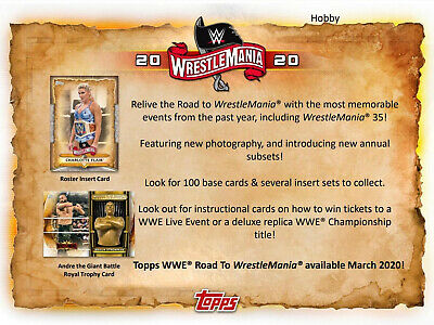 2020 Topps WWE Road to Wrestlemania Wrestling Hobby Box New/Sealed