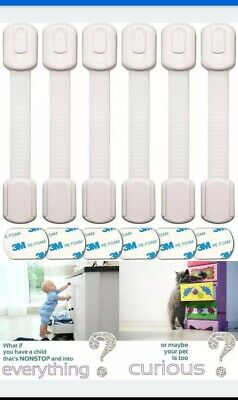Oxlay Baby Proofing Safety Locks~6pc Child Proof Latches For Drawer, Cabinet...