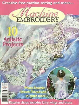 Machine Embroidery Magazine Childrens Fairy Costume Free Motion Sewing Patterns