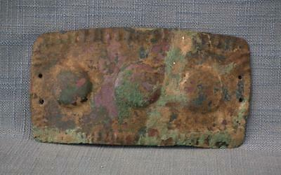 Ancient Celtic 8th Century B.C. Bronze Armor Belt Buckle to sword