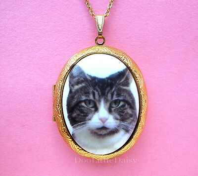 Folk Art Cat Necklace Cats Jewelry Gifts for Her Art Gift