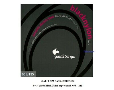 GALLI G77 BASS 4 STRINGS Set 4 corde Black Nylon 055/115 basso elettro acustico
