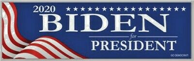 Joe Biden For President 2020 Red White Blue Bumper DECAL Sticker Democrat