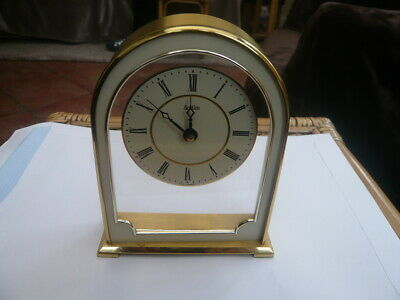 Good Quality Vintage Brass Cased Domed Top Acctim German Made Mantle Clock