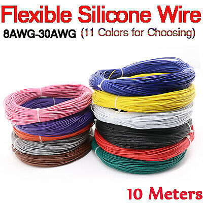 Heat-resistant Cable Wire Flexible Soft 8awg~30AWG silicone Stranded Tinned Line