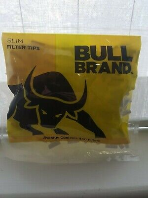 Bull Brand Slim Filter Tip NEW 450 Per Bag rolling cigarette Same day dispatch