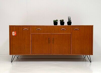 G PLAN FRESCO RETRO TEAK SIDEBOARD  TV MEDIA UNIT HAIRPIN LEGS Mid Century 1970s